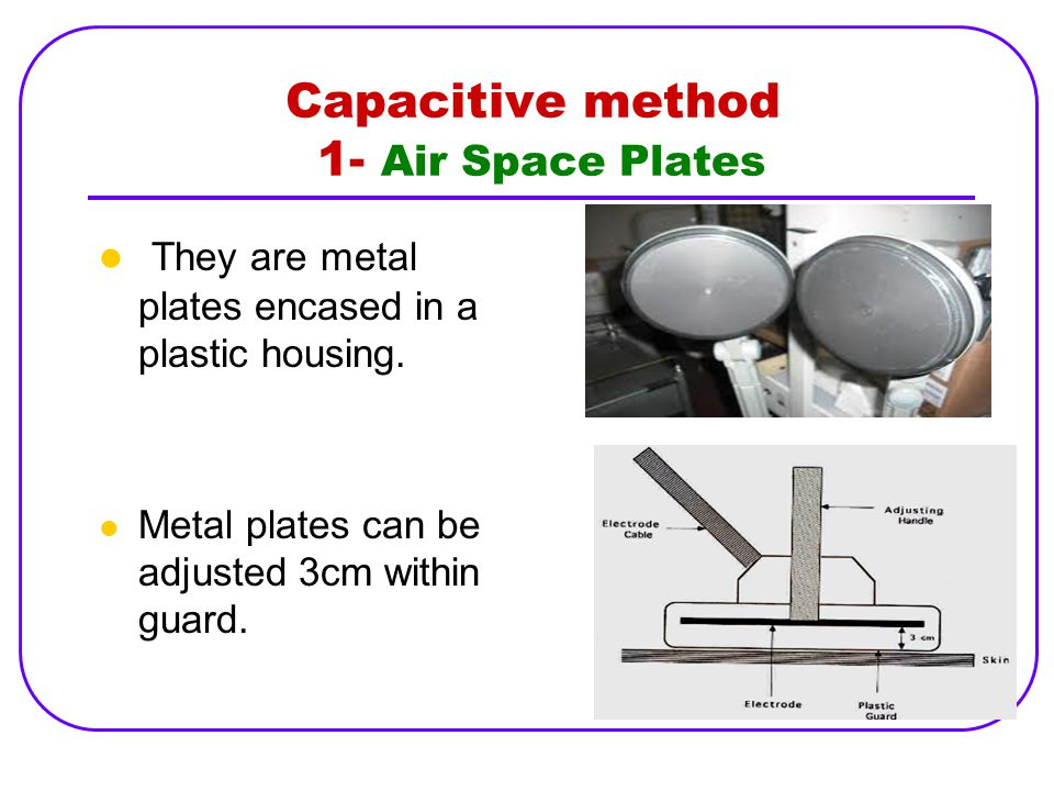 Capacitive method 1- Air Space Plates