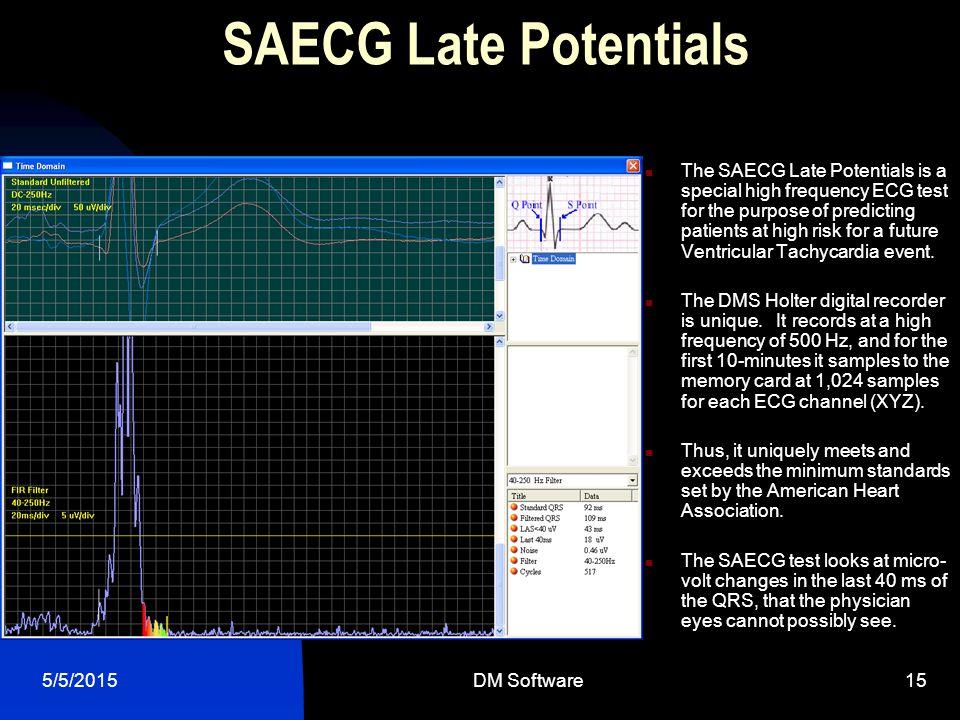 SAECG Late Potentials