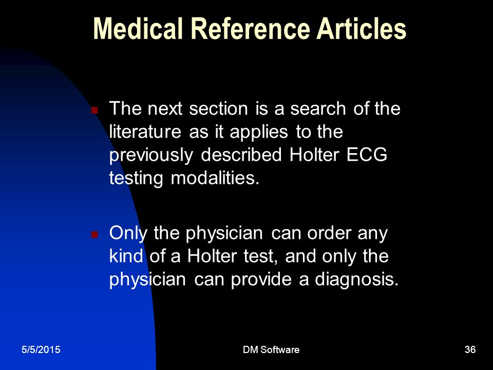 Medical Reference Articles