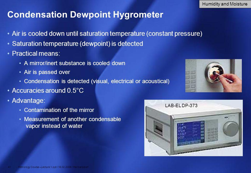 Condensation Dewpoint Hygrometer