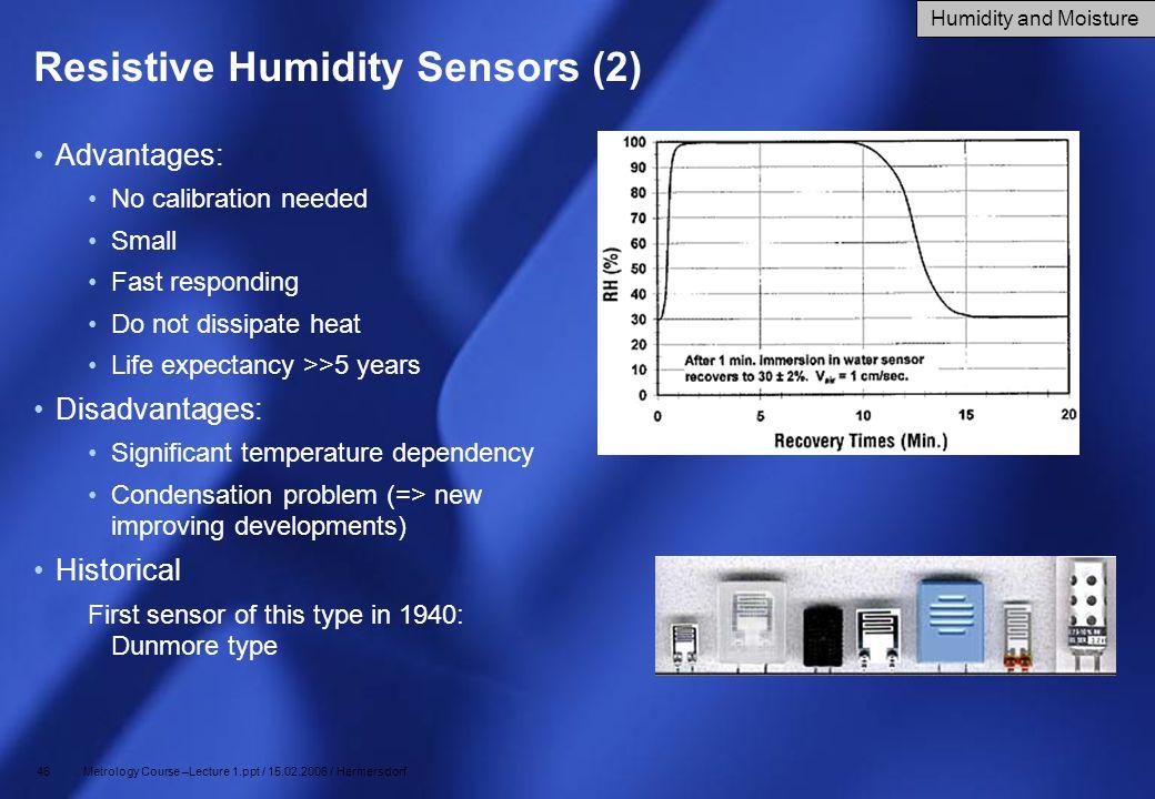 Resistive Humidity Sensors (2)