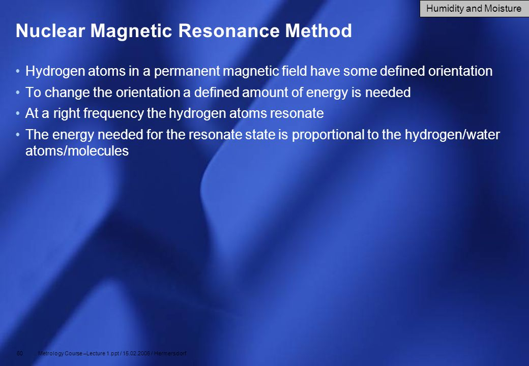Nuclear Magnetic Resonance Method