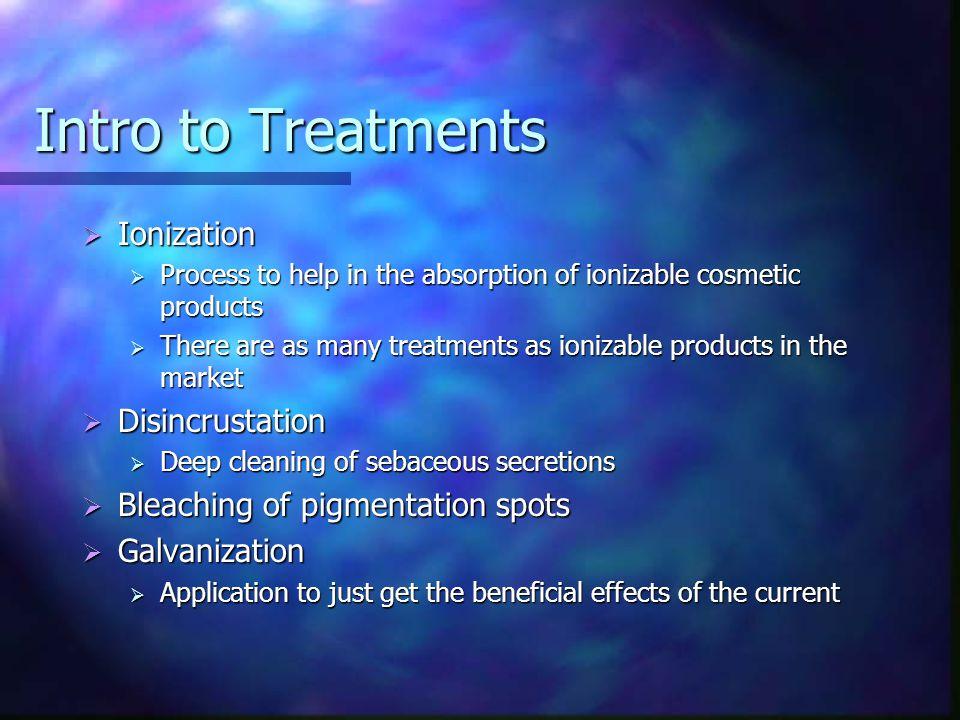 Intro to Treatments Ionization Disincrustation