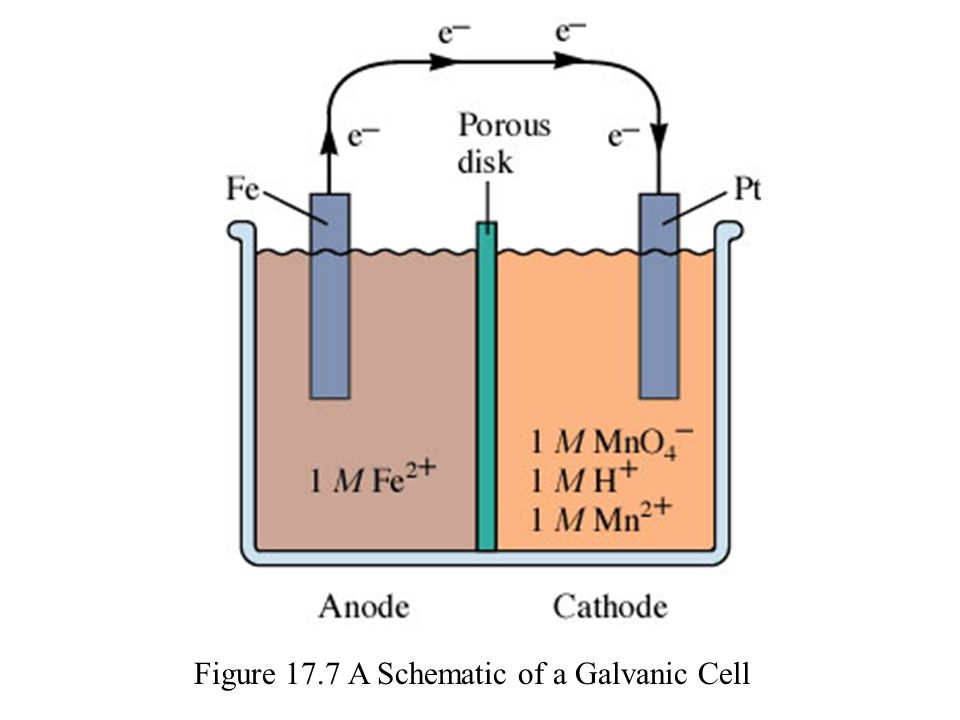Figure 17.7 A Schematic of a Galvanic Cell