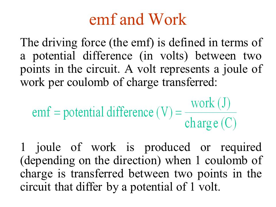 emf and Work