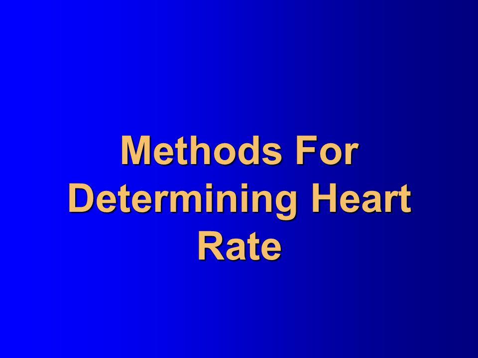 Methods For Determining Heart Rate