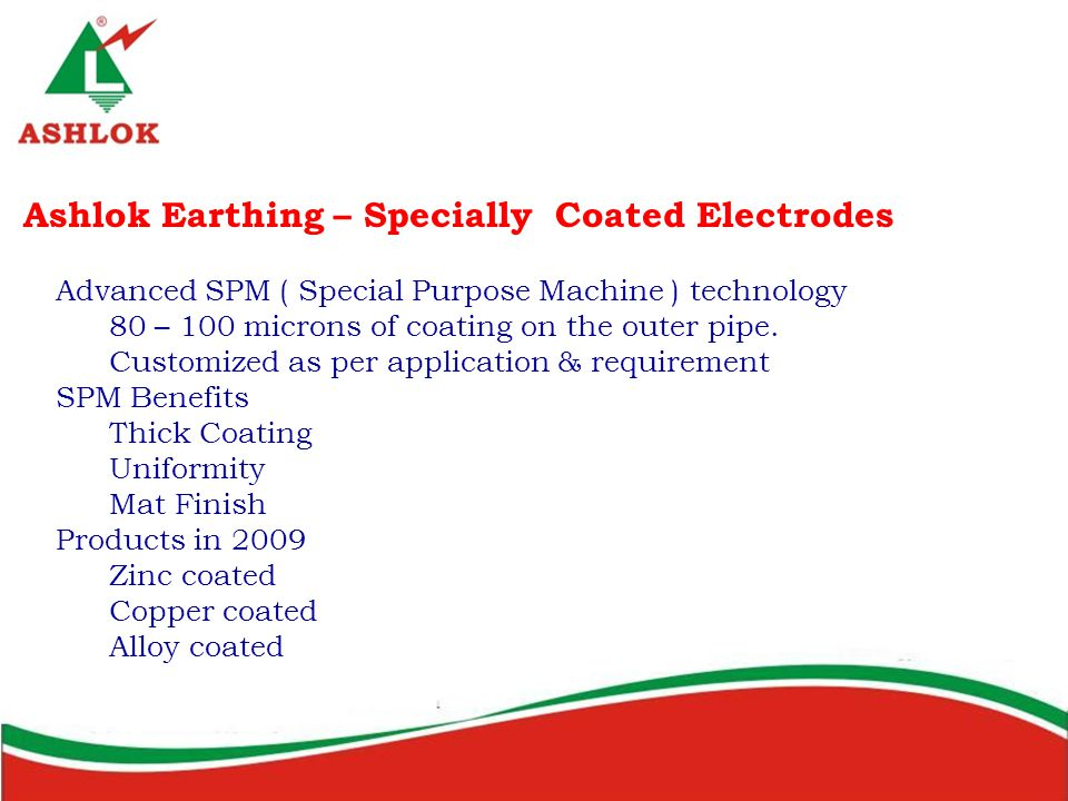 Ashlok Earthing – Specially Coated Electrodes