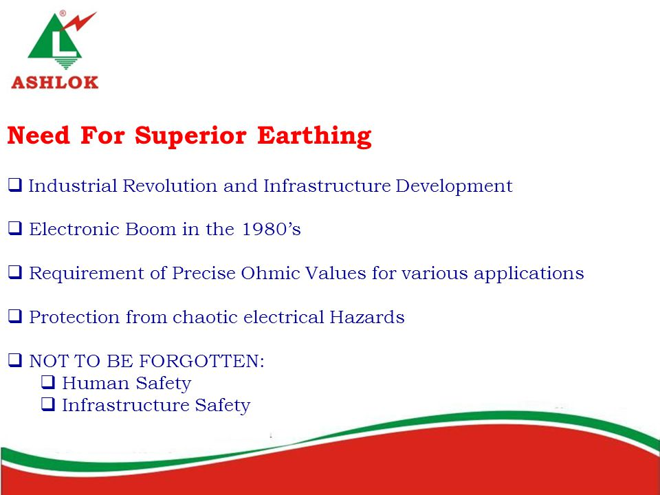 Need For Superior Earthing