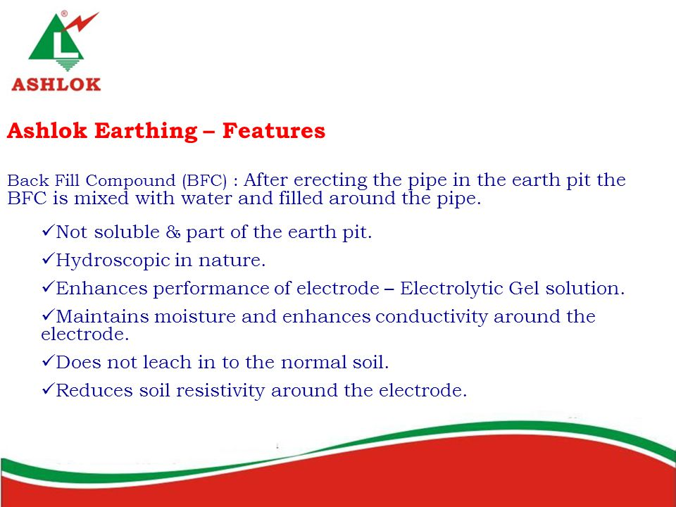 Ashlok Earthing – Features