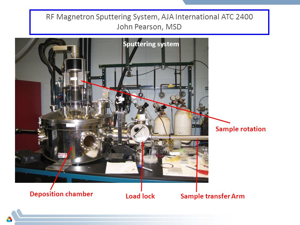 RF Magnetron Sputtering System, AJA International ATC 2400