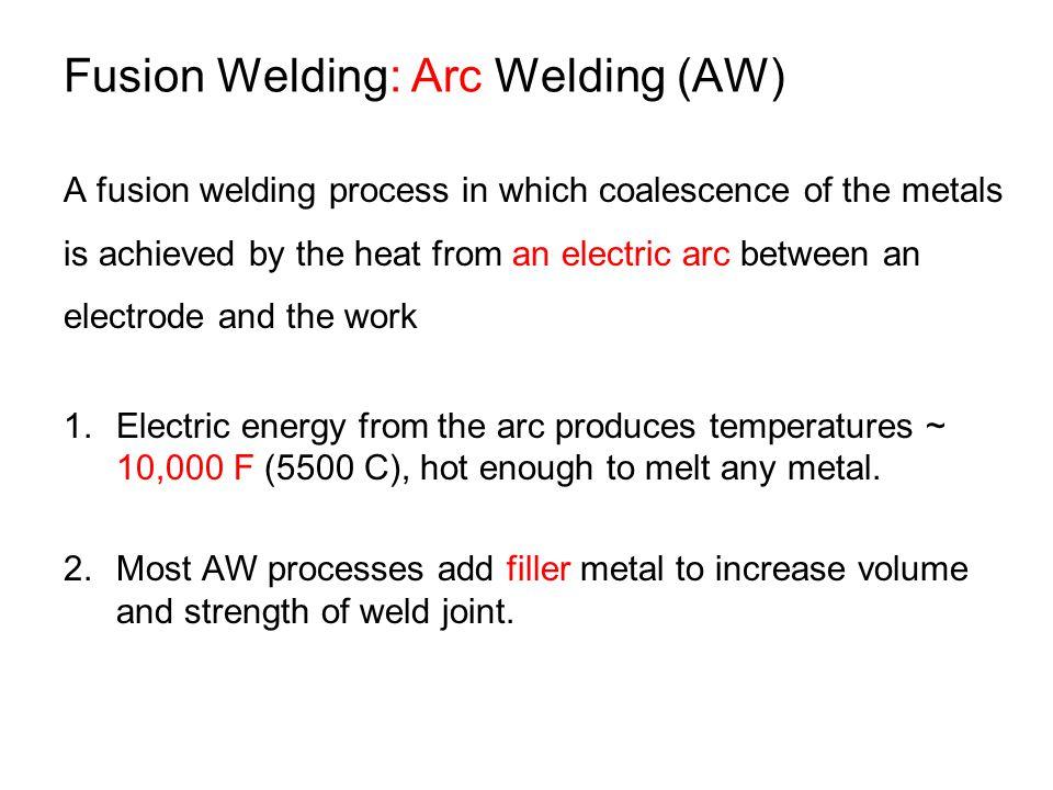 Fusion Welding: Arc Welding (AW)