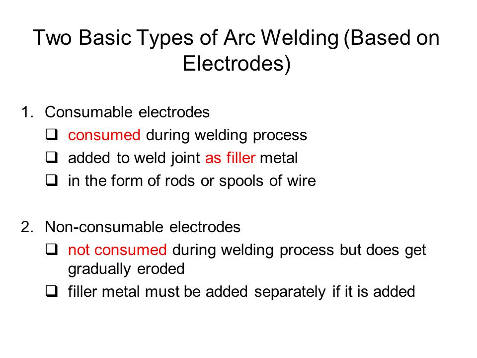 Two Basic Types of Arc Welding (Based on Electrodes)