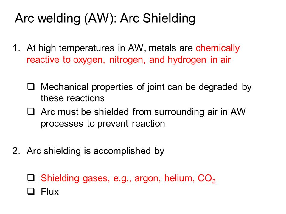 Arc welding (AW): Arc Shielding