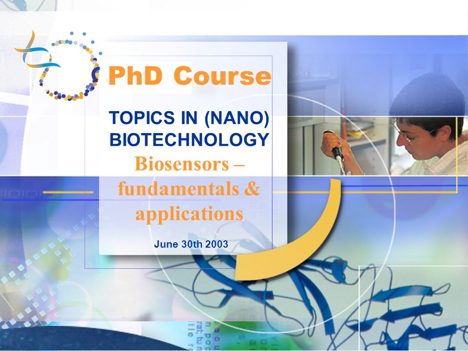 PhD Course Biosensors – fundamentals & applications