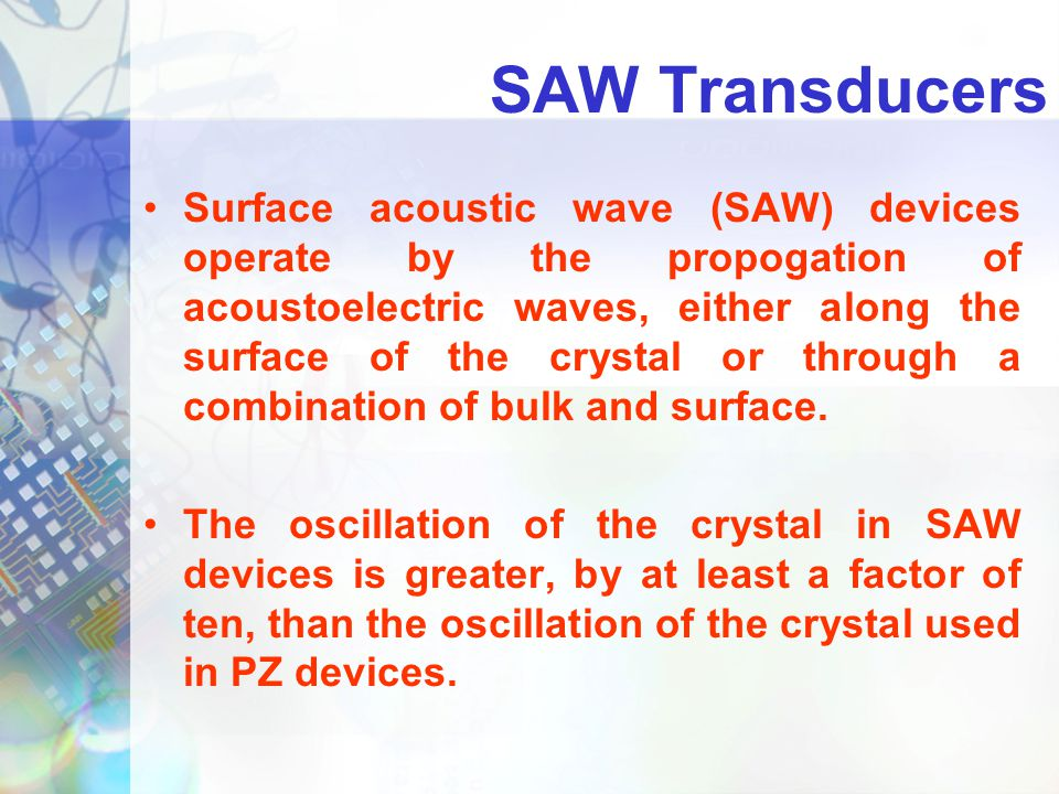 SAW Transducers