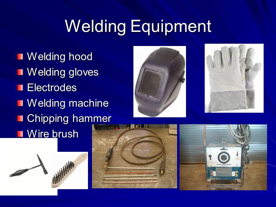Welding Equipment Welding hood Welding gloves Electrodes