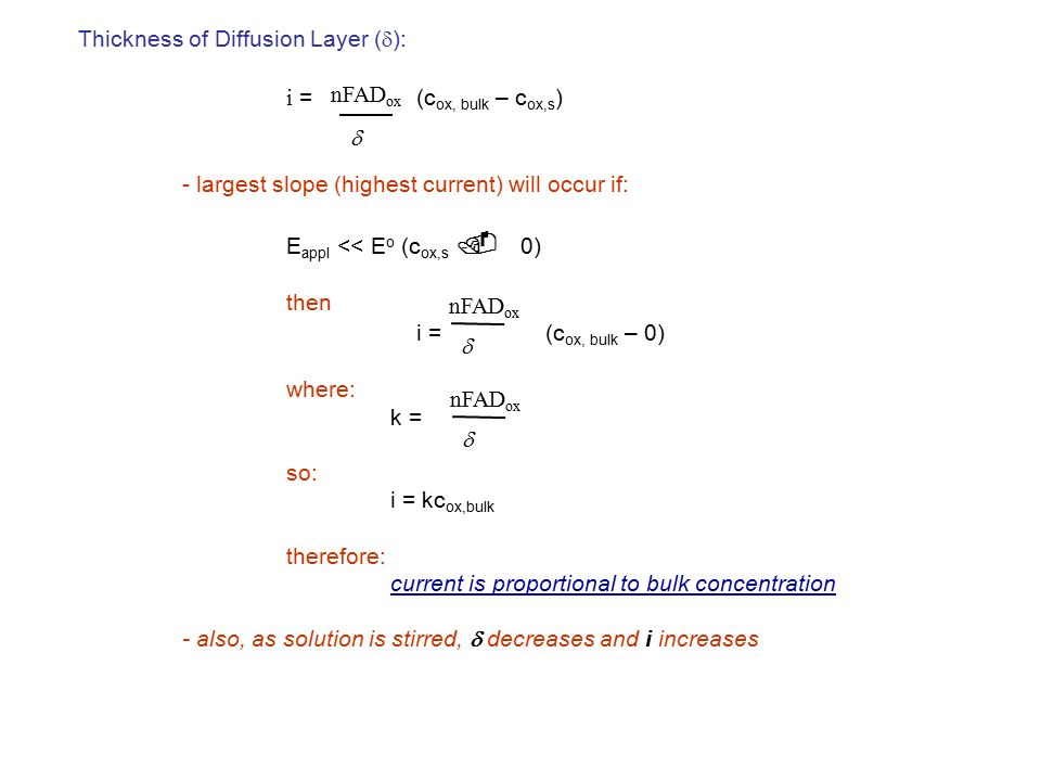 - largest slope (highest current) will occur if: