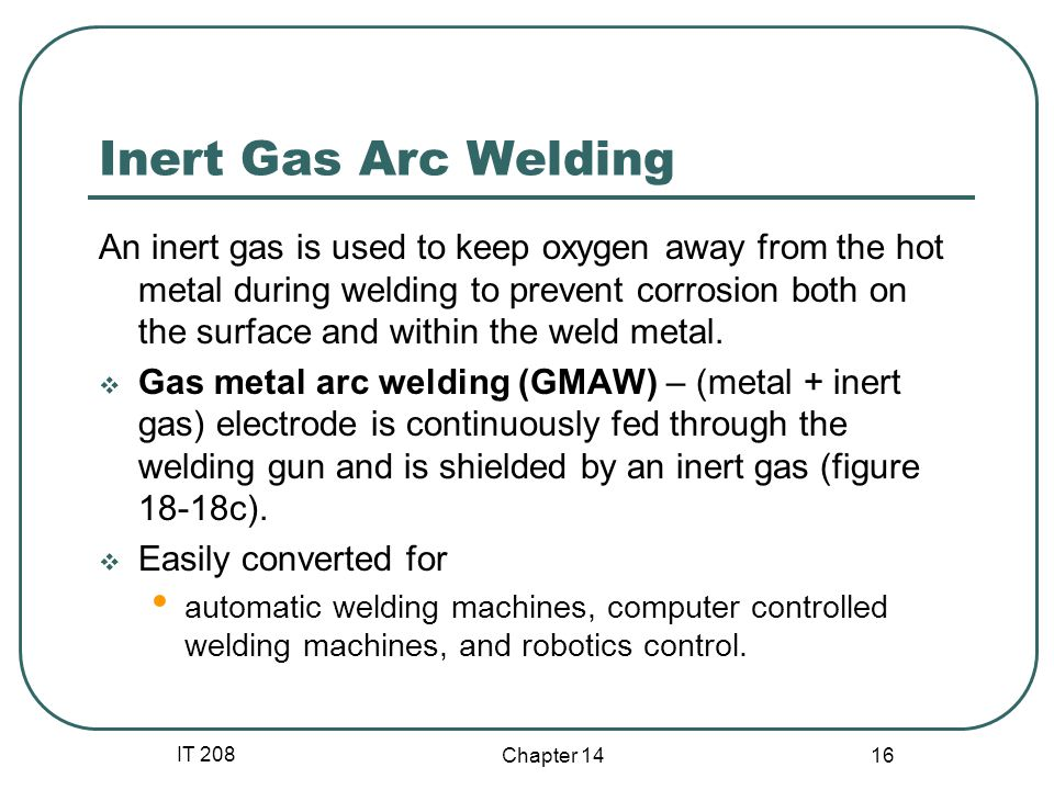 Inert Gas Arc Welding