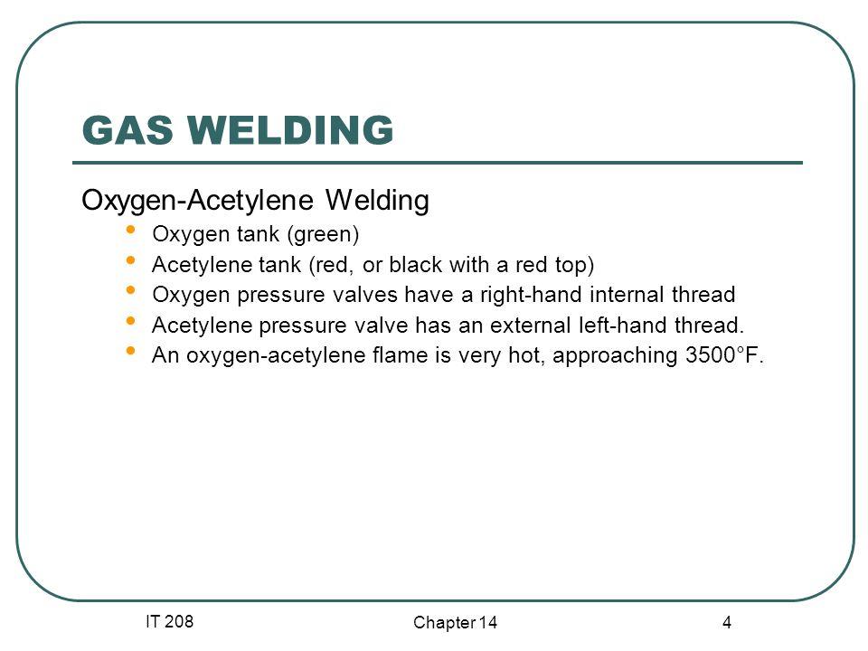 GAS WELDING Oxygen-Acetylene Welding Oxygen tank (green)