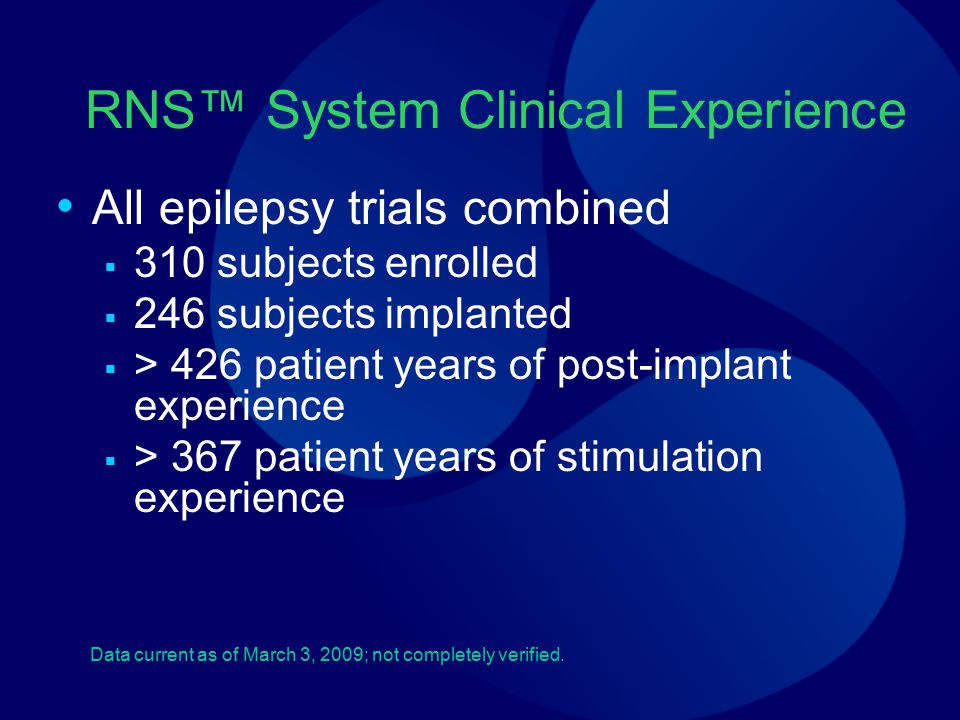RNS™ System Clinical Experience