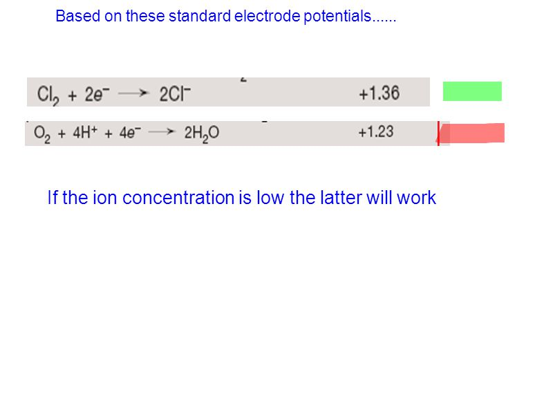 If the ion concentration is low the latter will work
