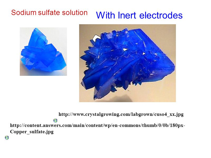 With Inert electrodes Sodium sulfate solution