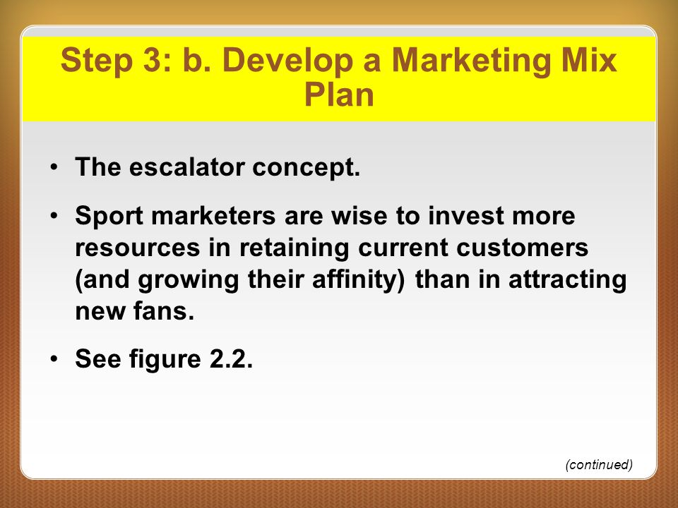 Step 3: b. Develop a Marketing Mix Plan