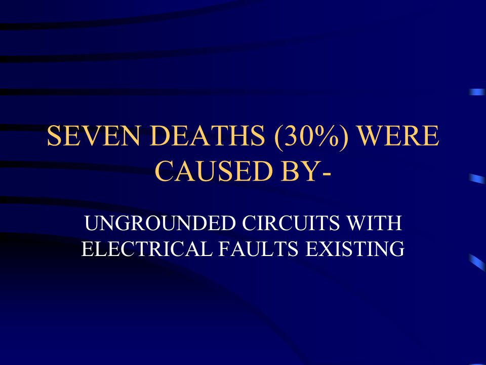 SEVEN DEATHS (30%) WERE CAUSED BY-