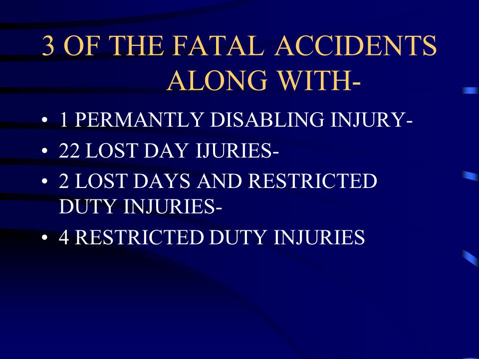 3 OF THE FATAL ACCIDENTS ALONG WITH-
