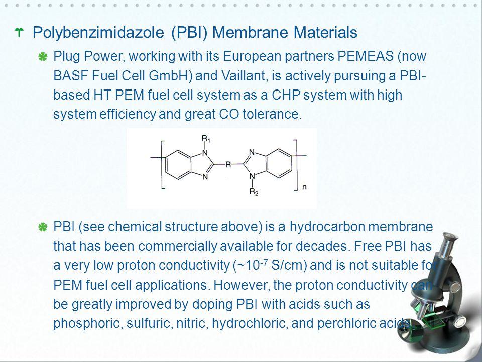 Polybenzimidazole (PBI) Membrane Materials