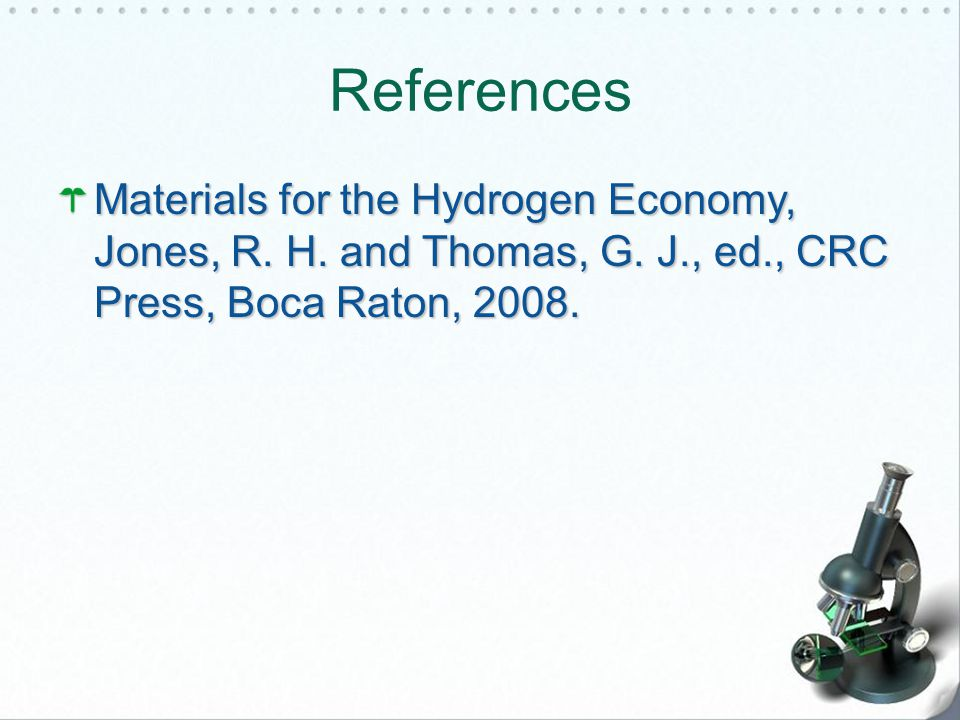 References Materials for the Hydrogen Economy, Jones, R.