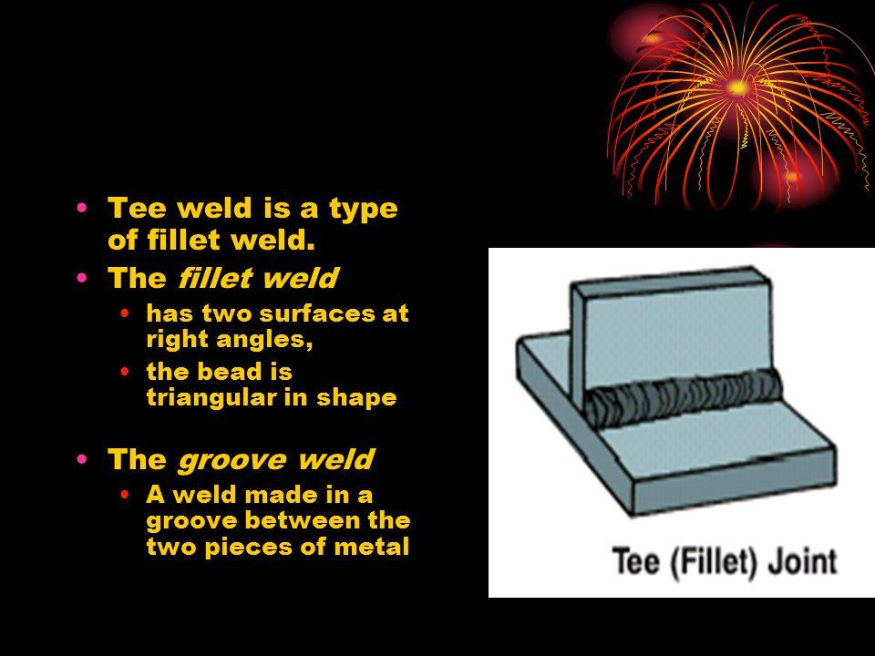 Tee weld is a type of fillet weld. The fillet weld