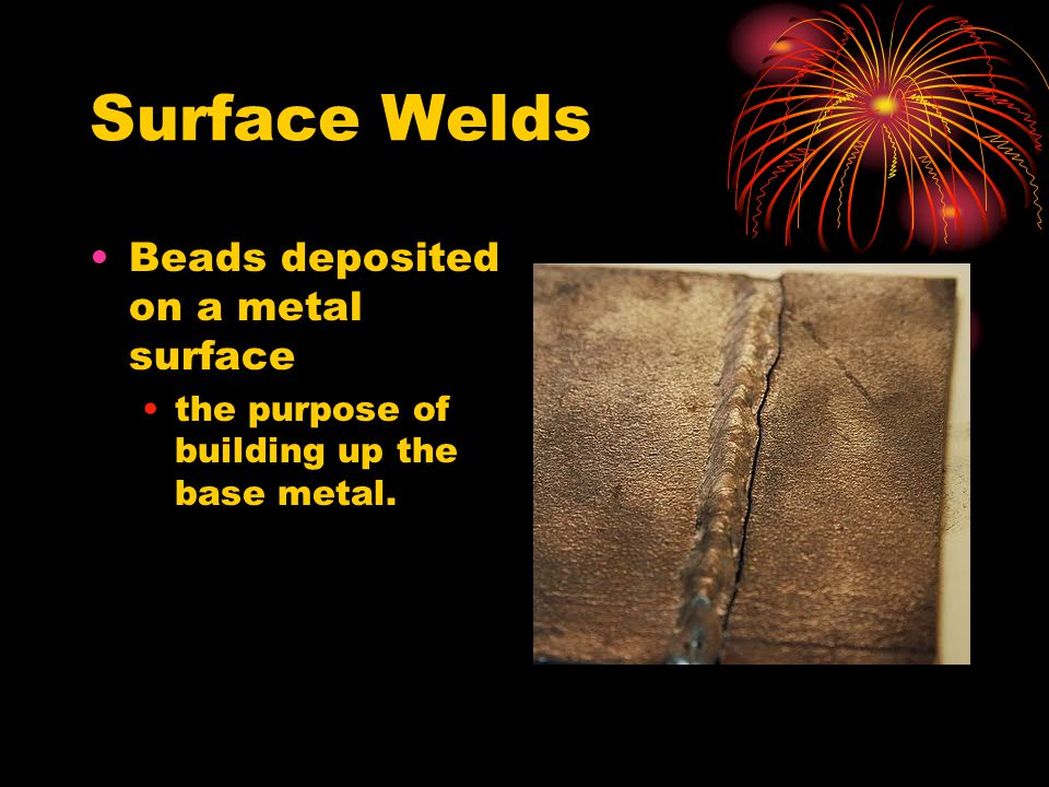 Surface Welds Beads deposited on a metal surface