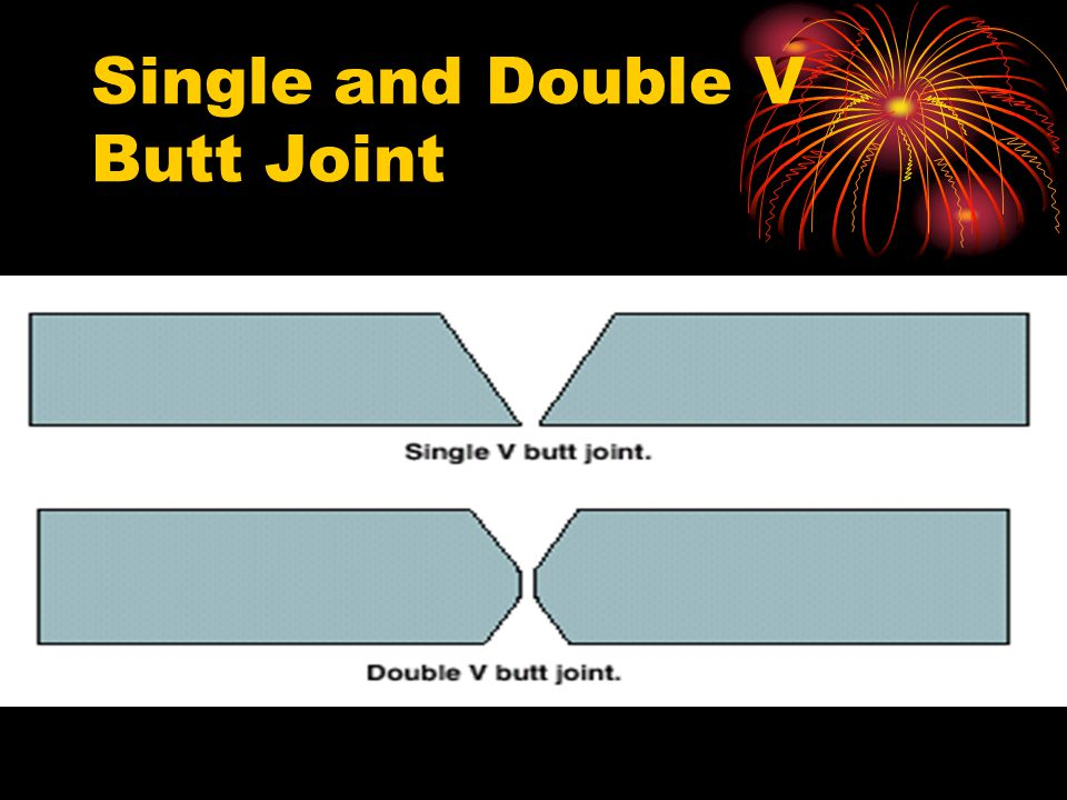 Single and Double V Butt Joint