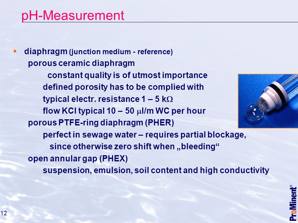 pH-Measurement diaphragm (junction medium - reference)