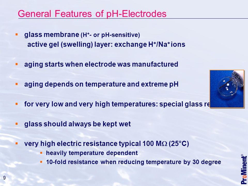 General Features of pH-Electrodes
