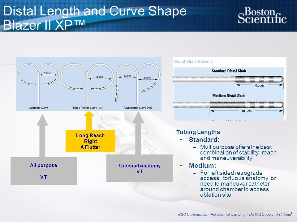 Distal Length and Curve Shape Blazer II XP™