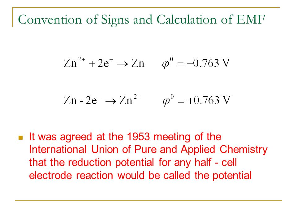 Convention of Signs and Calculation of EMF
