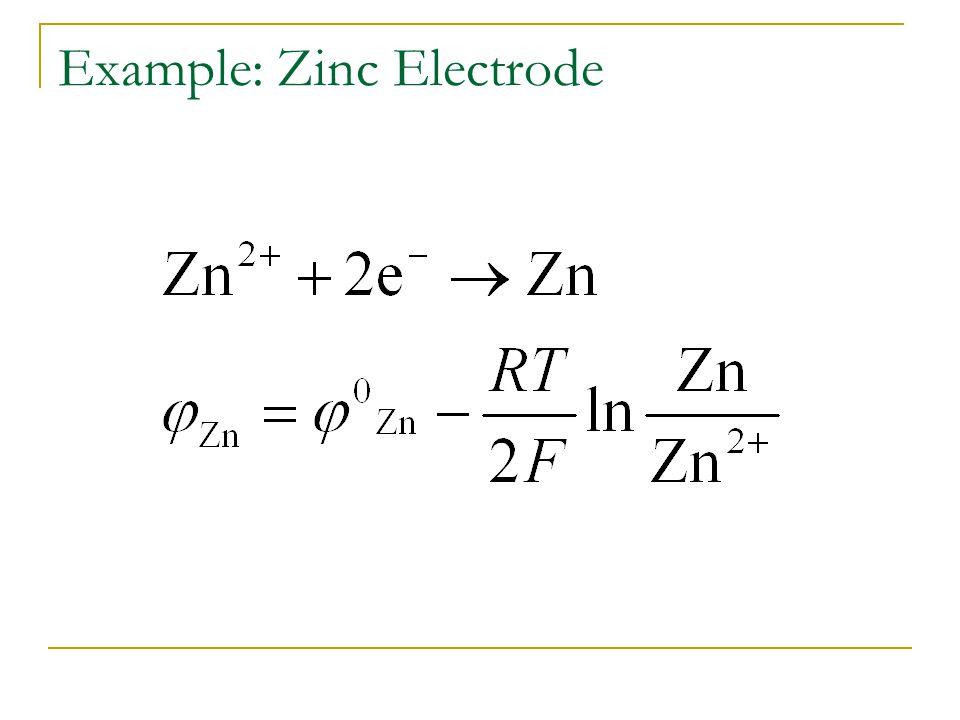 Example: Zinc Electrode