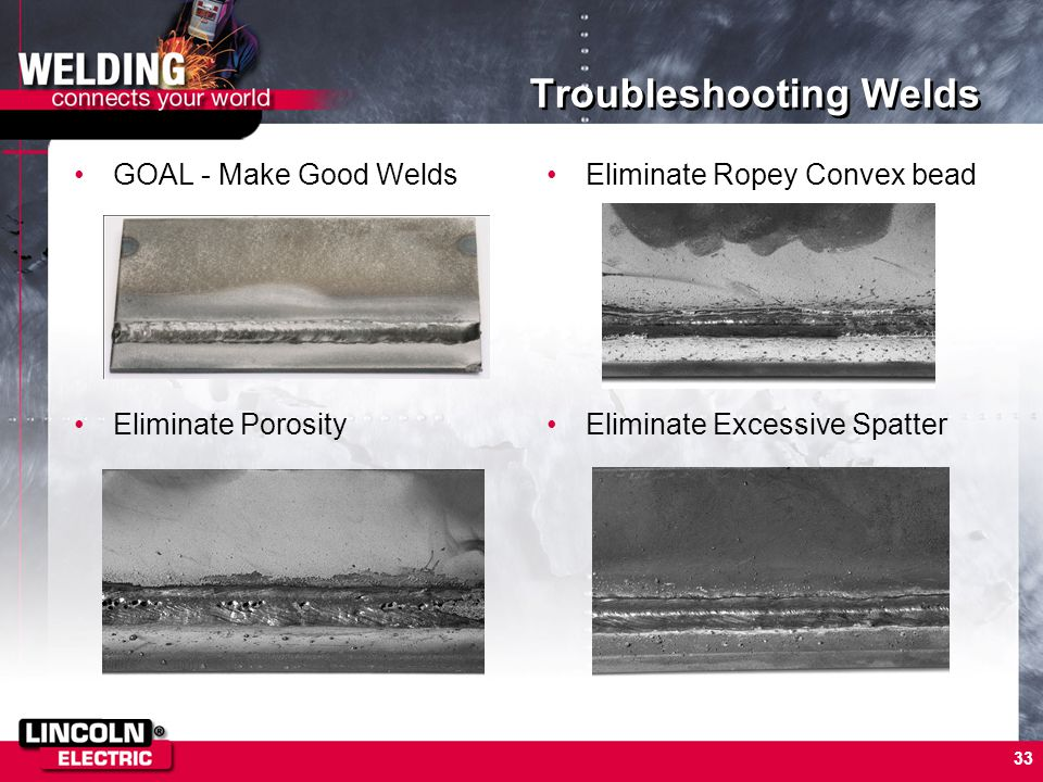 Troubleshooting Welds