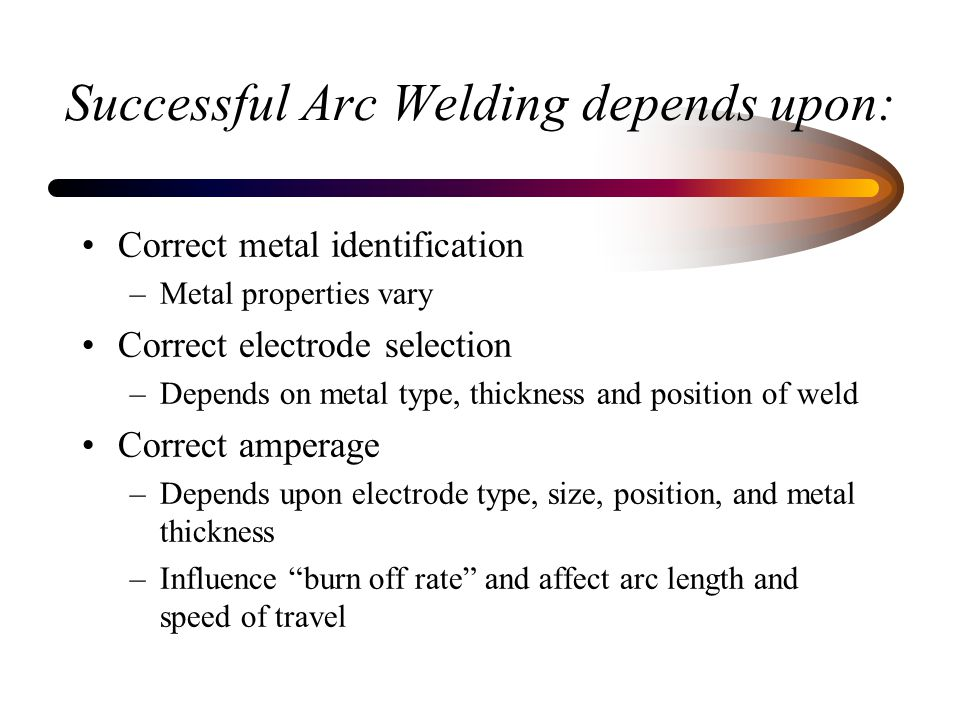 Successful Arc Welding depends upon: