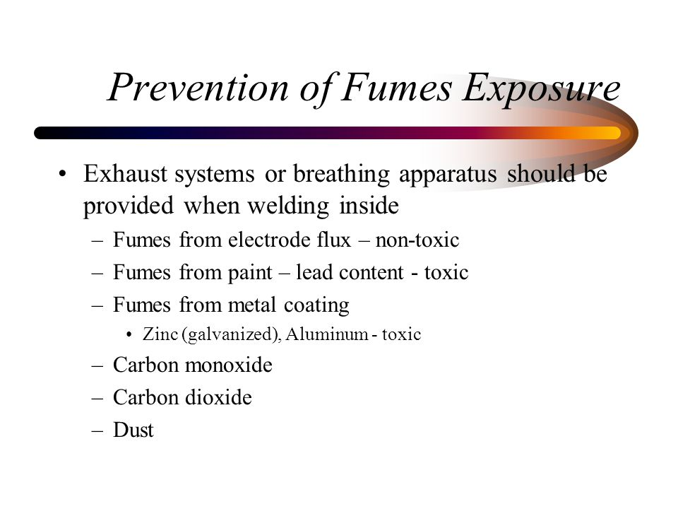 Prevention of Fumes Exposure