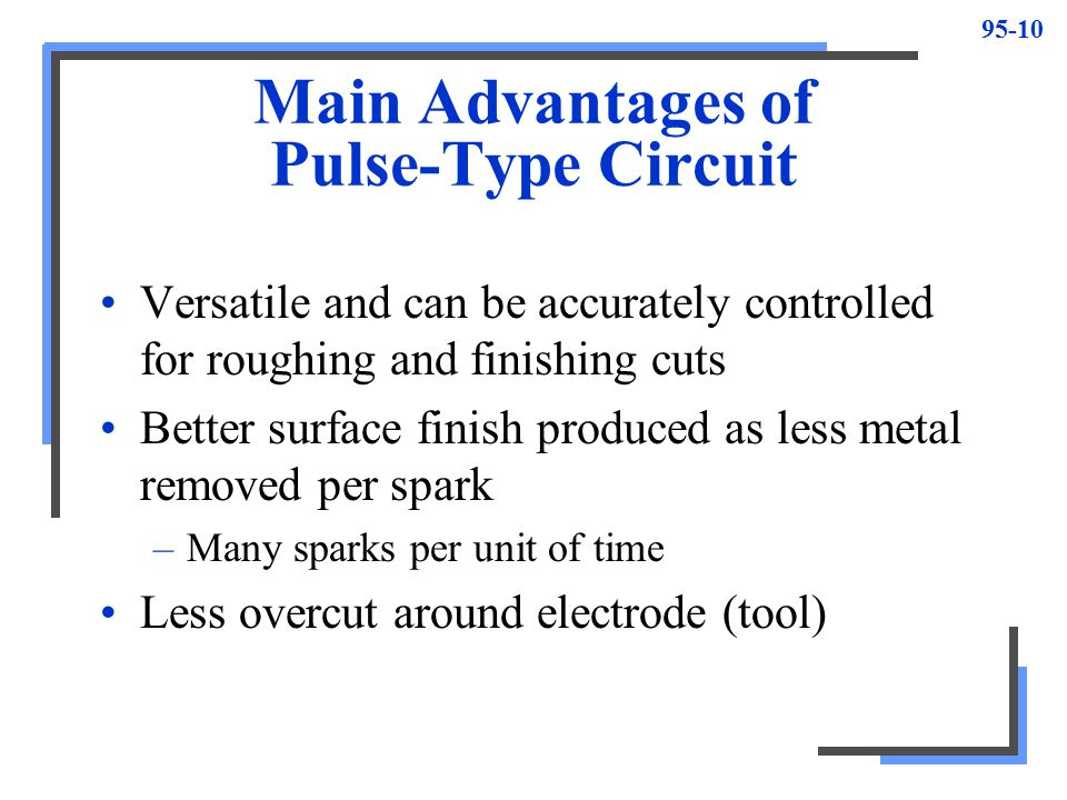 Main Advantages of Pulse-Type Circuit