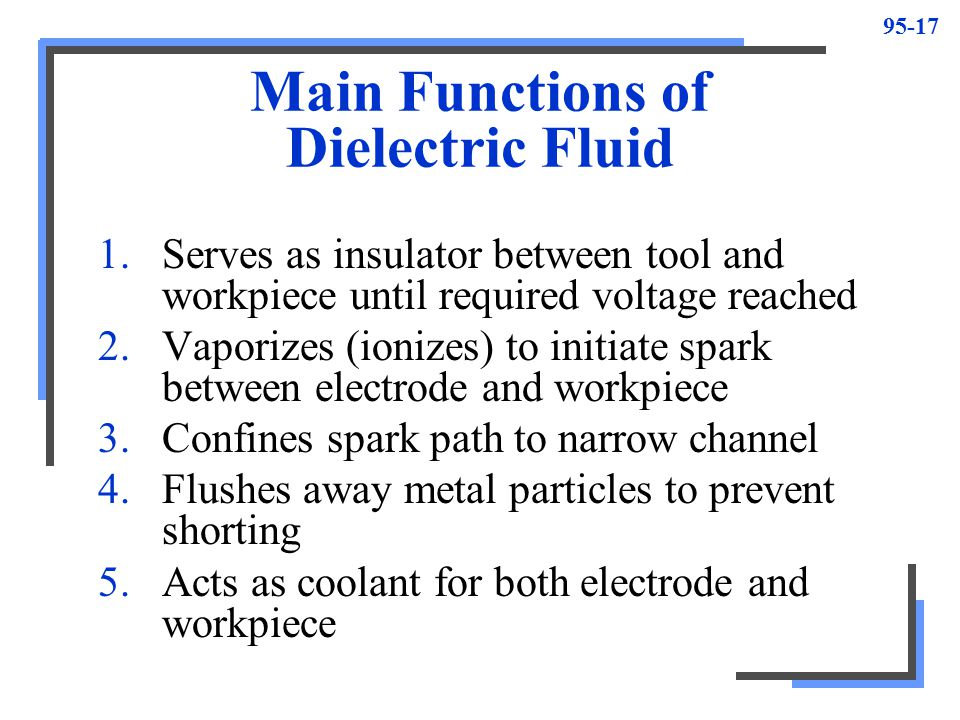 Main Functions of Dielectric Fluid