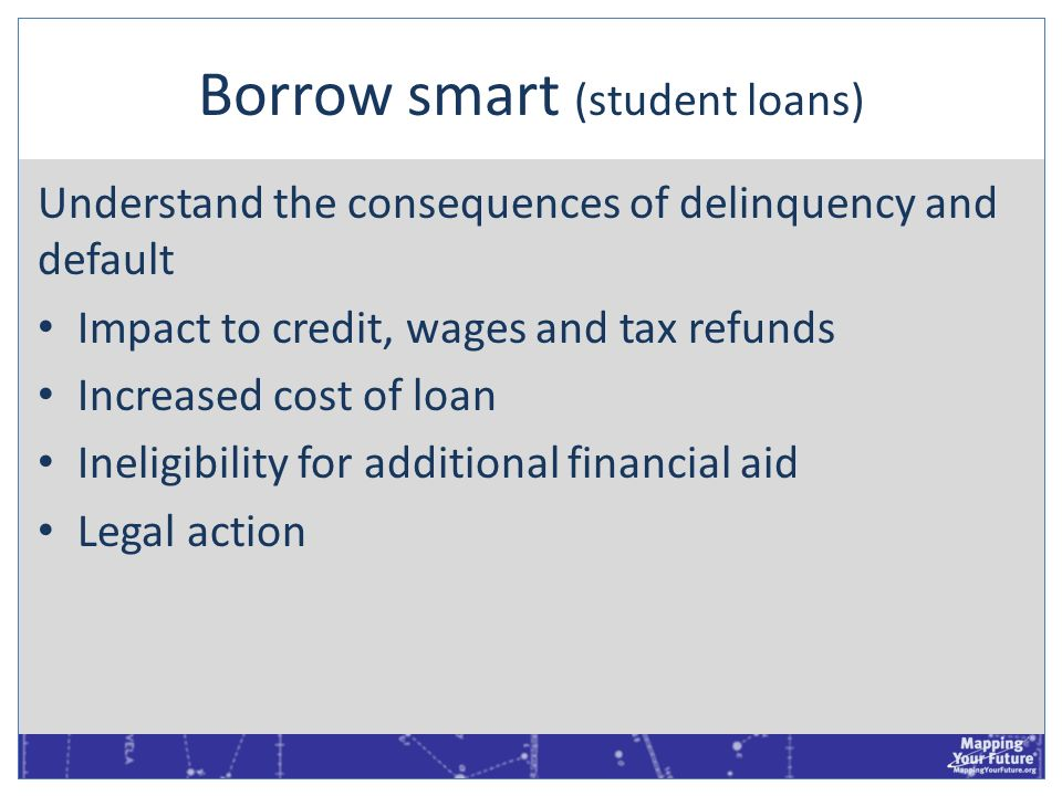 Borrow smart (student loans)