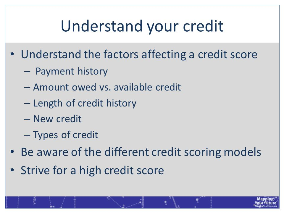 Understand your credit