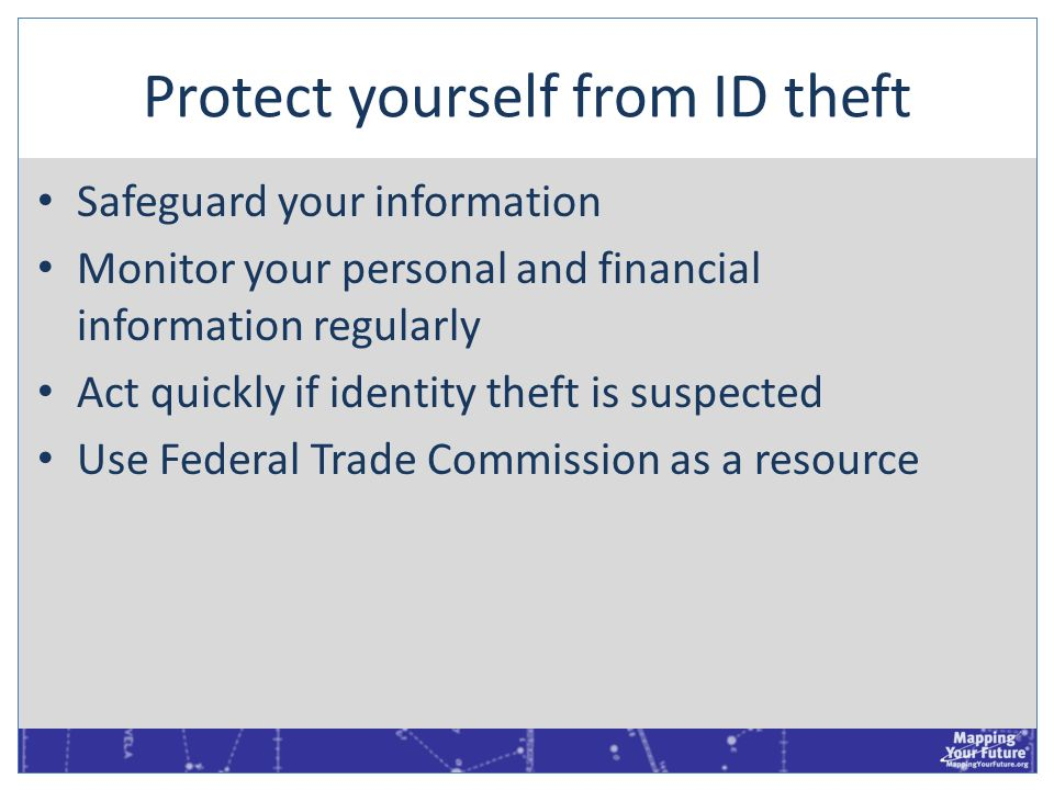 Protect yourself from ID theft