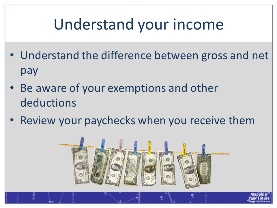 Understand your income