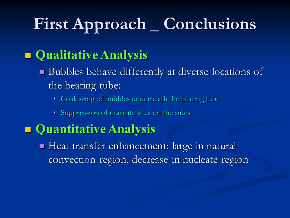 First Approach _ Conclusions