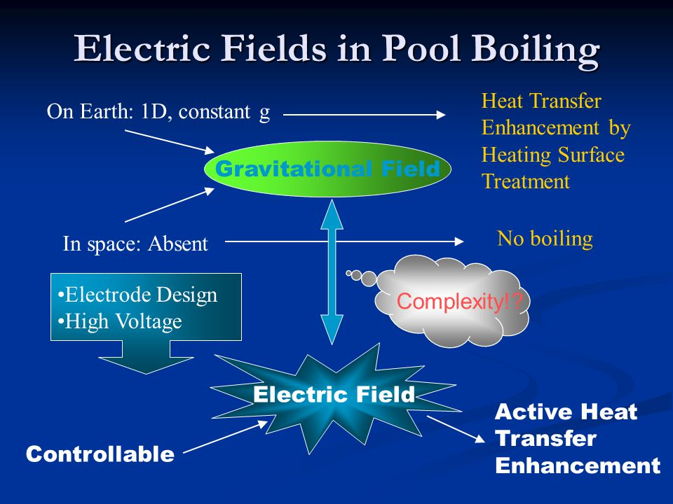 Electric Fields in Pool Boiling